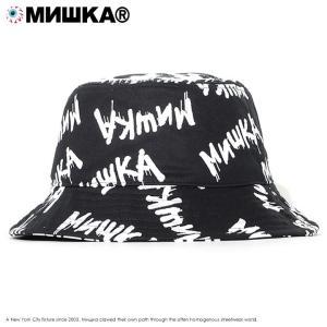 MISHKA ミシカ バケットハット 帽子 総柄 メルトネームロゴ (MSS203224)