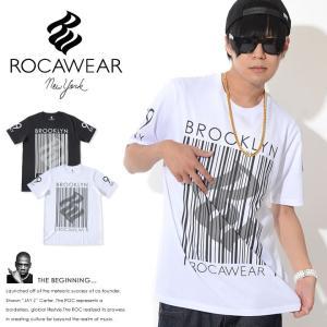 ROCAWEAR ロカウェア Tシャツ 半袖 ビッグバーコード RWロゴ アームナンバリング (RW...