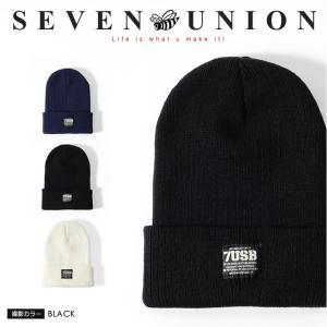 7UNION セブンユニオン ニットキャップ 帽子 ボックス...