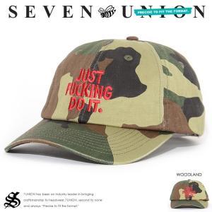 7UNION セブンユニオン ローキャップ 帽子 レザースト...