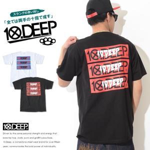 10DEEP テンディープ Tシャツ 半袖 左胸マルチロゴ ...