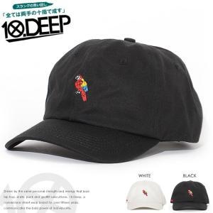 10DEEP テンディープ ローキャップ 帽子 アジャスターバック オウム刺繍 (72TD6207) セール