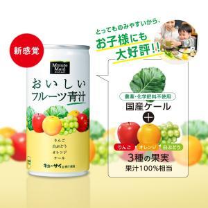 ミニッツメイド おいしいフルーツ青汁 190g缶  「ミニッツメイド」が開発した、フルーツ果汁入りの...