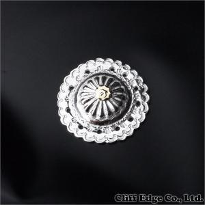 goro's(ゴローズ) K18メタル付き フラワーコンチョ 大 SILVER 270-000505-022+【新品】 (グッズ)|cliffedge