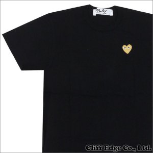 PLAY COMME des GARCONS(プレイコムデギャルソン) GOLD HEART ONE POINT TEE (Tシャツ) BLACKxGOLD 200-006748-041x【新品】 (半袖Tシャツ)