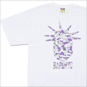 A BATHING APE (エイプ)  NYC NY CAMO APE HEAD TEE (Tシャツ)  WHITE 1C70-110-018 200-007128-050-【新品】(半袖Tシャツ)