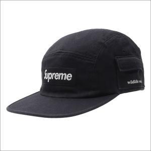 SUPREME(シュプリーム)  Wildlife Side Pocket Camp Cap (キャンプキャップ)  BLACK 265-000743-011+【新品】(ヘッドウェア)