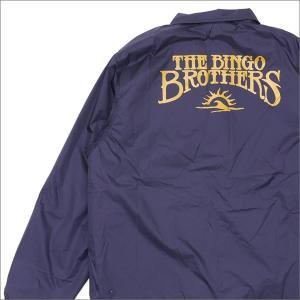 THE BINGO BROTHERS  (ザ・ビンゴブラザーズ)  Chenille B Logo Coach Jacket (コーチジャケット)  NAVY 225-000281-047x【新品】(OUTER)|cliffedge
