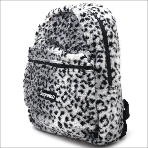 SUPREME(シュプリーム) Leopard Fleece Backpack (バックパック) WHITE 276-000274-010+【新品】(グッズ)|cliffedge