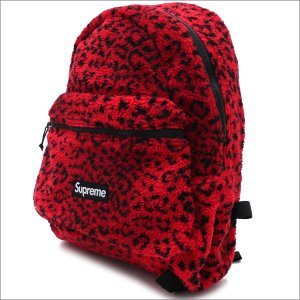 SUPREME(シュプリーム) Leopard Fleece Backpack (バックパック) RED 276-000274-013+【新品】(グッズ)|cliffedge