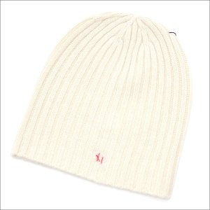 Ron Herman(ロンハーマン) CASHMERE KNIT BEANIE (ビーニー) WHITExRED 254-000308-010x【新品】(ヘッドウェア)|cliffedge