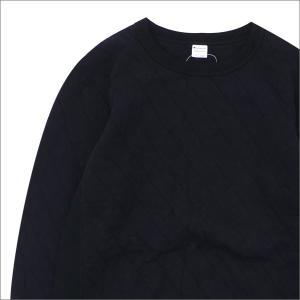 nanamica(ナナミカ) xChampion (チャンピオン) Quilting Knit Crew Neck Shirt (スウェット) BLACK 420-000115-041x【新品】(SWT/HOODY) cliffedge
