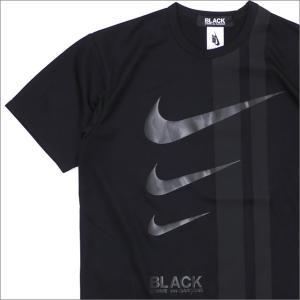 BLACK COMME des GARCONS(ブラック コムデギャルソン) x NIKE(ナイキ) THREE SWOOSH TEE (Tシャツ) BLACK 200-007829-051x【新品】(半袖Tシャツ)