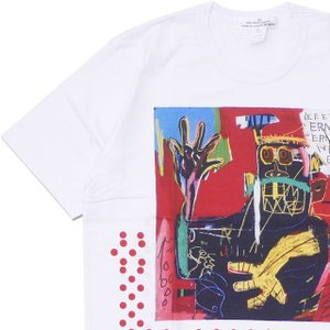 COMME des GARCONS SHIRT(コムデギャルソン シャツ) BASQUIAT TEE (Tシャツ) WHITExRED 200-007982-050x【新品】(半袖Tシャツ)