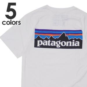 新品 パタゴニア Patagonia M's P-6 Logo Organic T-Shirt ロゴ オーガニック Tシャツ WHITE ホワイト 白 SlimFit 39151 メンズ 新作 半袖Tシャツ
