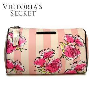 ヴィクトリアシークレット ポーチ 化粧ポーチ VICTORIA'S SECRET ビクトリア ポーチ 化粧ポーチ コスメポーチ ピンクストライプ 花柄
