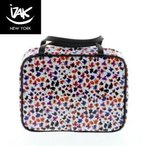 【送料無料】IZAK アイザック Vinyl Toiletry Bag コスメバッグ 化粧バッグ プチフラワー 小花柄|climb-f