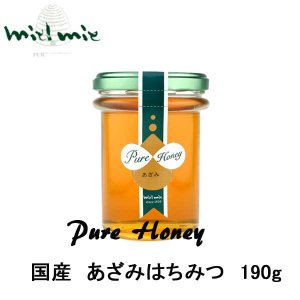 miel mie 国産「あざみ」蜂蜜190g ギフト|climb-store