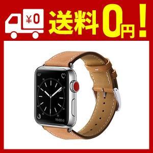 BRG コンパチブル apple watch バンド,本革 (42mm/44mm,ブラウン) アップ...