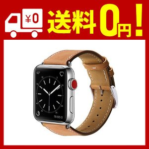BRG コンパチブル apple watch バンド,本革 (38mm/40mm,ブラウン) アップ...
