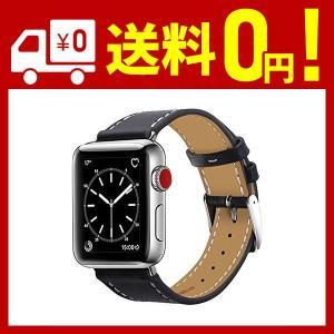 BRG コンパチブル apple watch バンド,本革 (38mm/40mm,ブラック)  アッ...