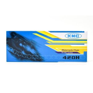 KMC製 ドライブチェーン420H-120L(シルバー) 適合:FIスーパーカブ50(AA04)|clippingpointstore