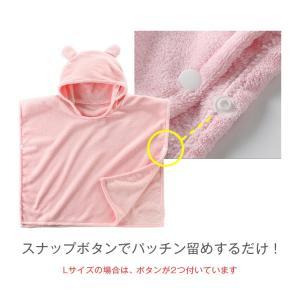 バスローブ ベビー キッズ 赤ちゃんバスローブ バスタオル フード付きバスタオル ポンチョタオル マイクロファイバー キッズバスタオル こどもバスローブ|clivia|04