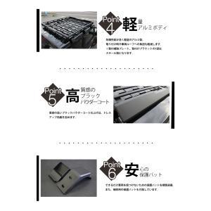 シーエルリンク ルーフキャリア アルミ製 軽量 ラック カーゴ ブラック ジムニー JB64/JB74|cllink|05