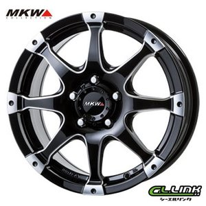 ポイント5倍 MKW MK-76 16x7J+50 114.3x5穴 73.1 ミルド/マシンブラック cllinkwheels