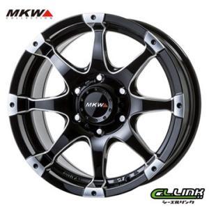 ポイント5倍 MKW MK-76 17x8J+20 139.7x6穴 106.2 ミルド/マシンブラック cllinkwheels