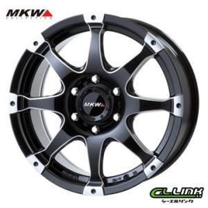 ポイント5倍 MKW MK-76 18x8J+38 139.7x6穴 106.2 ミルド/マシンブラック cllinkwheels