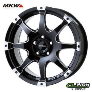 ポイント5倍 MKW MK-76 18x8J+43 114.3x5穴 73.1 ミルド/マシンブラック cllinkwheels