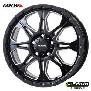 ポイント5倍 MKW MK-66 17x7J+45 114.3x5穴 73.1 ミルドサテンブラック cllinkwheels