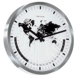 ステーションクロックワールドタイム ヘルムレ(HERMLE)製掛け時計 30504-002100|clock-shop-cecicela