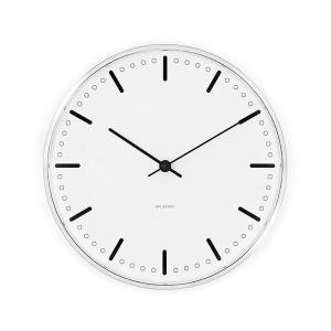 アルネ・ヤコブセン掛け時計 ARNE JACOBSEN Wall Clock CityHall 210mm 43631|clock-shop-cecicela