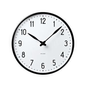 アルネ・ヤコブセン掛け時計 ARNE JACOBSEN  Wall Clock STATION 290mm  43643|clock-shop-cecicela