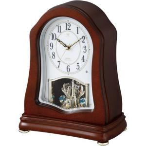 報時メロディ付き ウッド置き時計 ハイクオリティーコレクション RHG-S51N リズム時計 4RN421HG06|clock-shop-cecicela