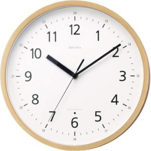 電波掛け時計8MY466RH07 プライウッド LBRリズム時計|clock-shop-cecicela