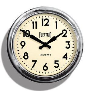 NEW GATEニューゲート掛け時計 Giant Electric クローム AWN14C|clock-shop-cecicela