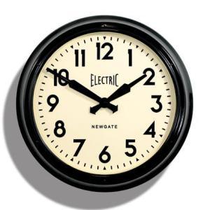 NEW GATEニューゲート掛け時計 Giant Electric ブラック AWN14K|clock-shop-cecicela