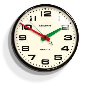 NEW GATE(ニューゲート)掛け時計 Brixton Wall Clock ブラック BRIX392K|clock-shop-cecicela