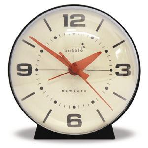 NEW GATEニューゲート アラームクロック BUBBLEブラック|clock-shop-cecicela