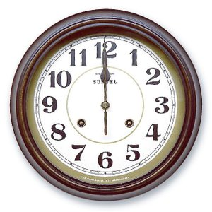 さんてる アンティーク調掛け時計 電波スイープムーブメント DQL674A サンテル 日本製 clock-shop-cecicela