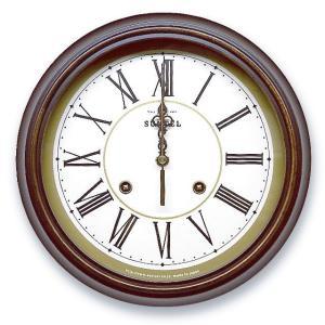 さんてる アンティーク調掛け時計 電波スイープムーブメント DQL674R サンテル 日本製 clock-shop-cecicela