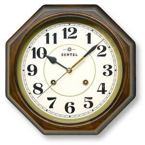 さんてる アンティーク調掛け時計 電波スイープムーブメント DQL675A サンテル 日本製|clock-shop-cecicela