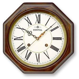 さんてる アンティーク調掛け時計 電波スイープムーブメント DQL675R サンテル 日本製 clock-shop-cecicela