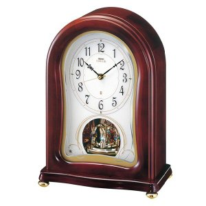 セイコーメロディ置時計エンブレム  SEIKO電波置き時計 HW553H clock-shop-cecicela