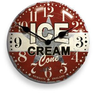 レトロなデザイン魅力です! NEW GATEニューゲート掛け時計 ICECREAM ADVERTISING Wall Clock ICECON50|clock-shop-cecicela