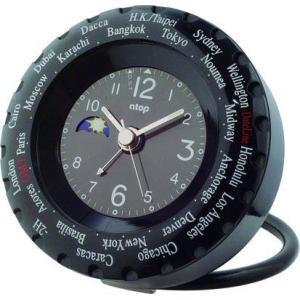 ワールドタイムクロック LWA-1P ブラック atop|clock-shop-cecicela