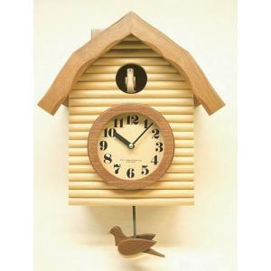 鳩時計 さんてる 日本製 振り子はと時計 QL650NA  国産 手作り clock-shop-cecicela